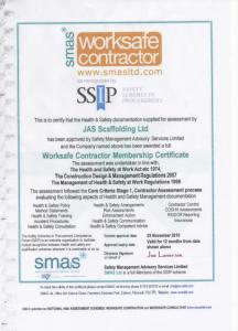 Worksafe Contractor Certificate