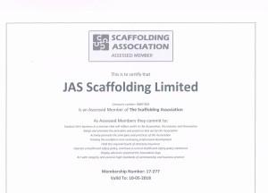 Scaffolding Association Cert